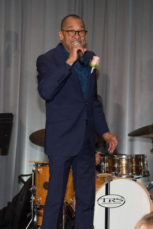 entertainer singing at gala