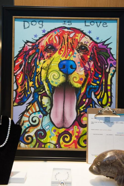 framed artwork in the auction at gala